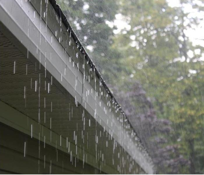 Rain dripping off of roof